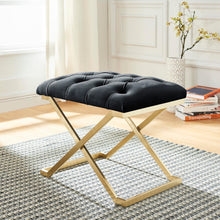 Load image into Gallery viewer, Rada Bench in Black & Gold - Dream art Gallery