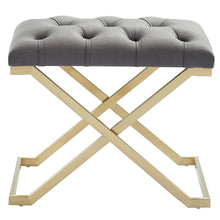 Load image into Gallery viewer, Rada Bench in Grey & Gold - Dream art Gallery