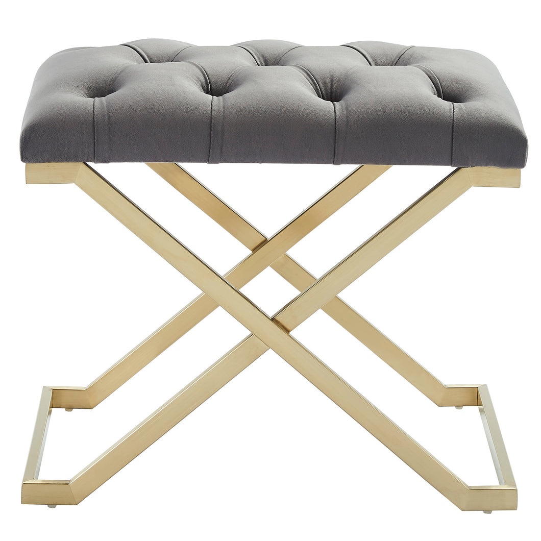 Rada Bench in Grey & Gold - Dream art Gallery