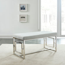 Load image into Gallery viewer, Eros Bench in Silver & Grey - Dream art Gallery