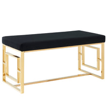 Load image into Gallery viewer, Eros Bench in Gold & Black - Dream art Gallery