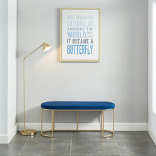 Load image into Gallery viewer, Perla Bench in Blue/Gold