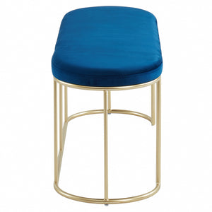 Perla Bench in Blue/Gold - Dream art Gallery