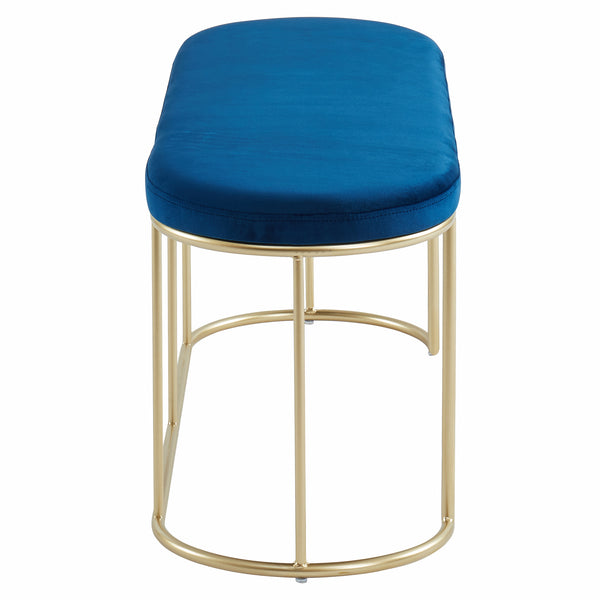 Perla Bench in Blue/Gold