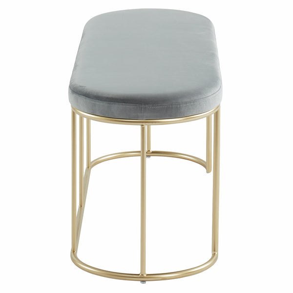 Perla Bench in Grey/Gold