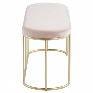 Perla Bench in Blush Pink/Gold - Dream art Gallery