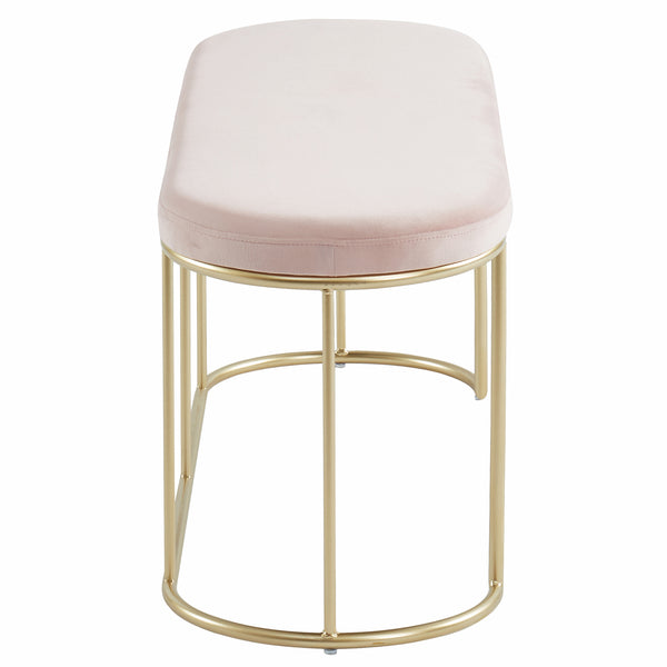 Perla Bench in Blush Pink/Gold