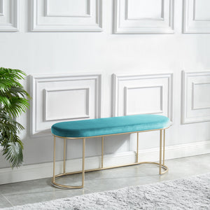 Perla Bench in Teal/Gold - Dream art Gallery