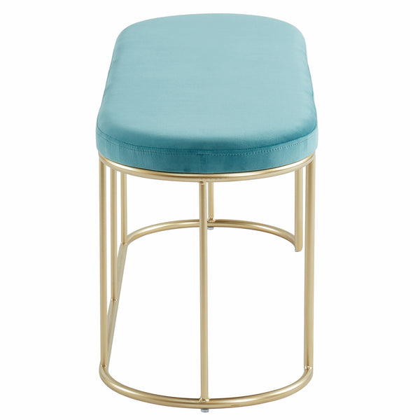 Perla Bench in Teal/Gold