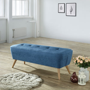 Remy Bench/Ottoman in Blue - Dream art Gallery