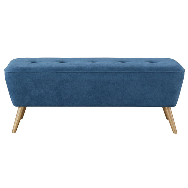 Remy Bench/Ottoman in Blue - Dreamart Gallery