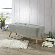 Load image into Gallery viewer, Remy Bench/Ottoman in Grey - Dream art Gallery