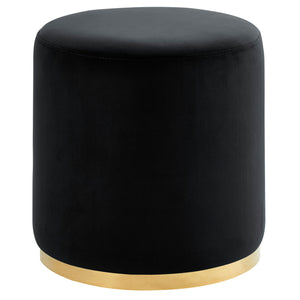 Sonata Round Ottoman in Black & Gold - Dream art Gallery