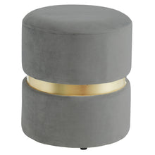 Load image into Gallery viewer, Violet Round Ottoman in Grey - Dream art Gallery