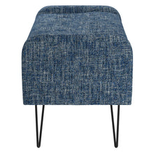 Load image into Gallery viewer, Odet Storage Ottoman/Bench in Blue with Black Leg - Dream art Gallery