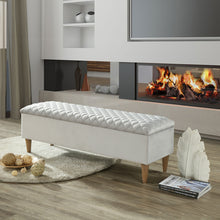 Load image into Gallery viewer, Sienna Rectangular Storage Ottoman in Light Grey - Dream art Gallery