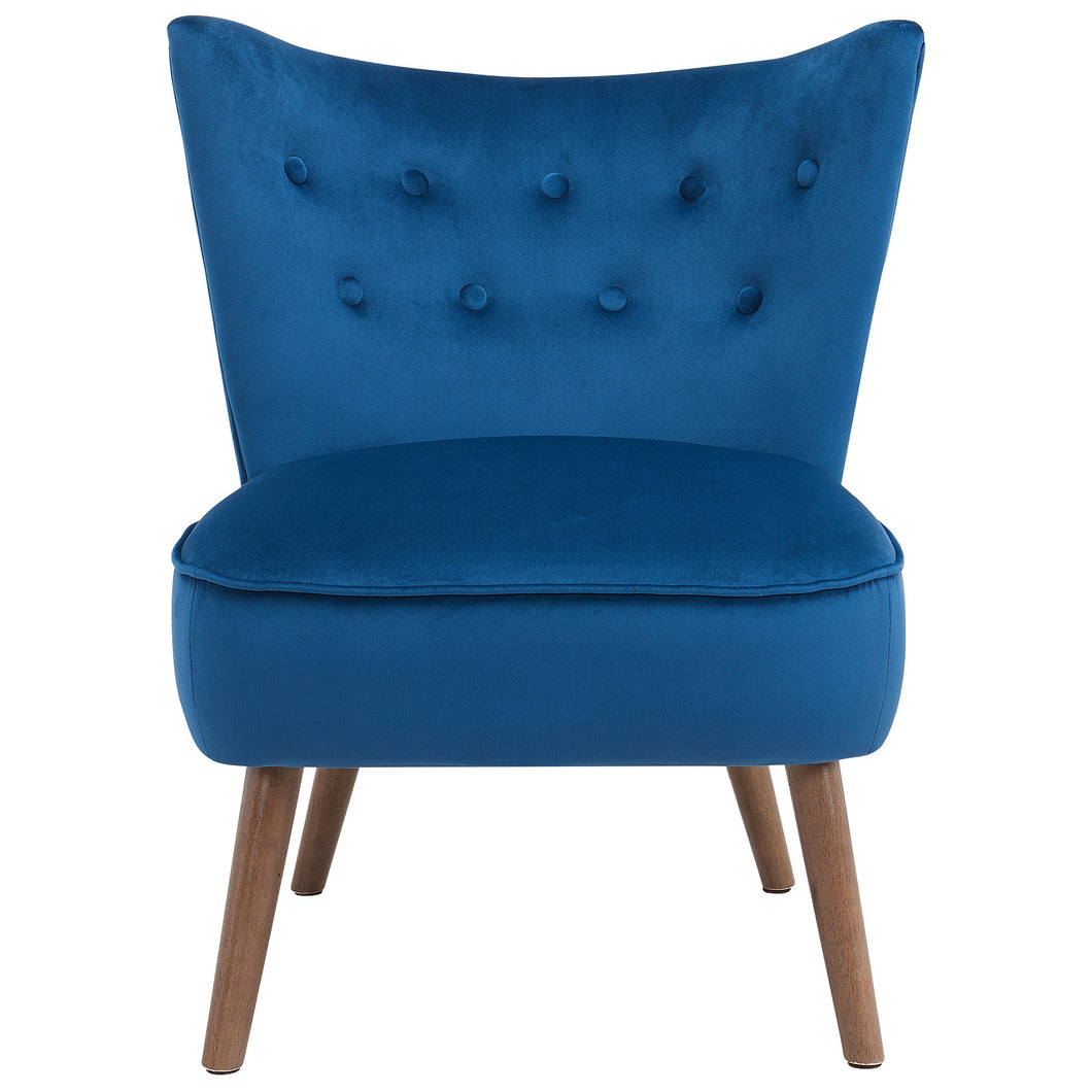 Elle Accent Chair in Blue - Dream art Gallery