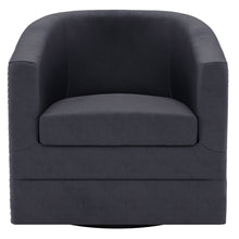 Load image into Gallery viewer, Velci Swivel Accent Chair in Black - Dream art Gallery
