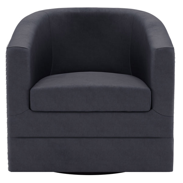 Velci Swivel Accent Chair in Black