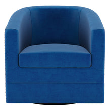 Load image into Gallery viewer, Velci Swivel Accent Chair in Blue - Dreamart Gallery