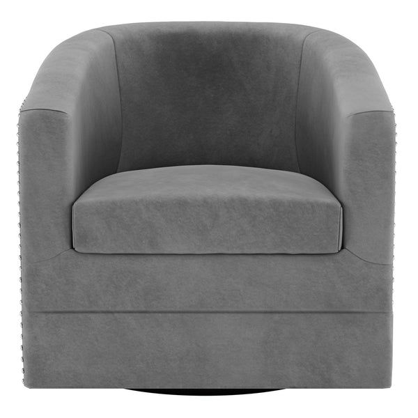 Velci Swivel Accent Chair in Grey - Dream art Gallery