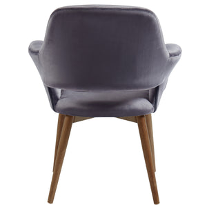 Miranda Accent & Dining Chair in Grey - Dream art Gallery