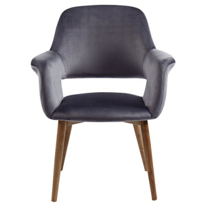 Miranda Accent & Dining Chair in Grey - Dreamart Gallery