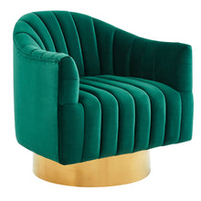 Load image into Gallery viewer, Cortina Accent Chair in Green & Gold - Dreamart Gallery
