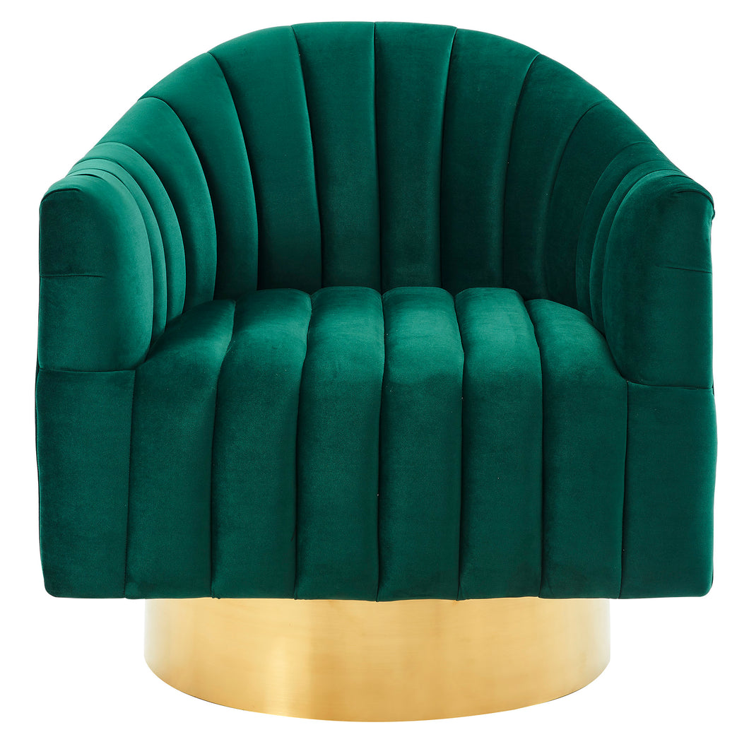 Cortina Accent Chair in Green & Gold - Dream art Gallery