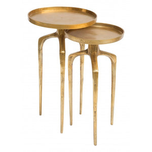 Como Accent Table Set Antique Gold - Dreamart Gallery