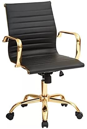 Toni Low Back Gold Office Chair - Dreamart Gallery