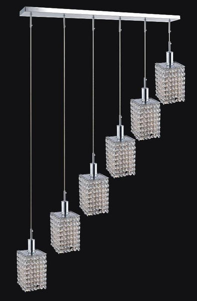 6 LIGHT MULTI LIGHT PENDANT WITH CHROME FINISH