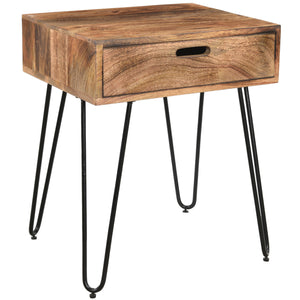 Jaydo Accent Table in Natural Burnt - Dream art Gallery