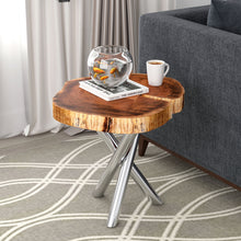 Load image into Gallery viewer, Shlok Accent Table in Natural with Chrome Legs - Dream art Gallery
