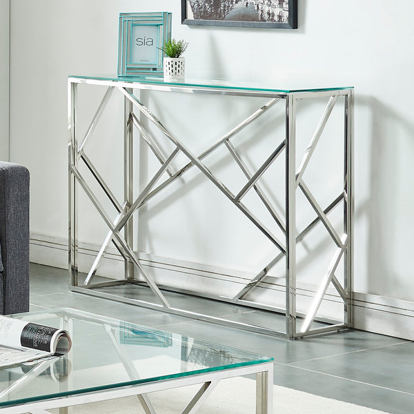 Juniper Console Table in Silver - Dream art Gallery