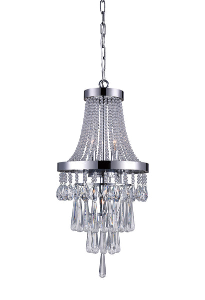 3 LIGHT CHANDELIER WITH CHROME FINISH - Dream art Gallery