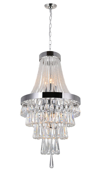 6 LIGHT CHANDELIER WITH CHROME FINISH - Dream art Gallery