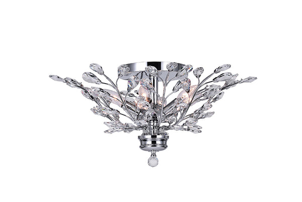 6 LIGHT FLUSH MOUNT WITH CHROME FINISH - Dreamart Gallery