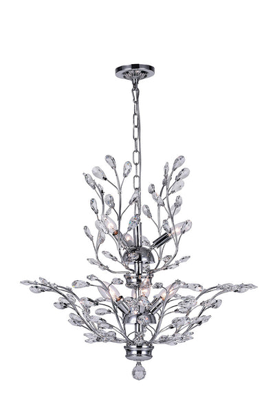 9 LIGHT CHANDELIER WITH CHROME FINISH - Dream art Gallery