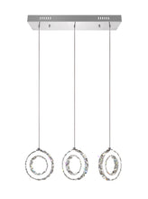 Load image into Gallery viewer, LED MULTI LIGHT PENDANT WITH CHROME FINISH - Dream art Gallery