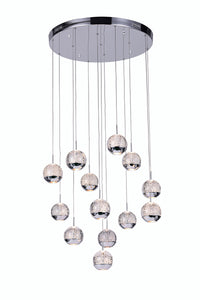 13 LIGHT MULTI LIGHT PENDANT WITH CHROME FINISH - Dreamart Gallery