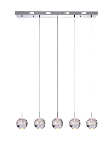 5 LIGHT MULTI LIGHT PENDANT WITH CHROME FINISH - Dream art Gallery