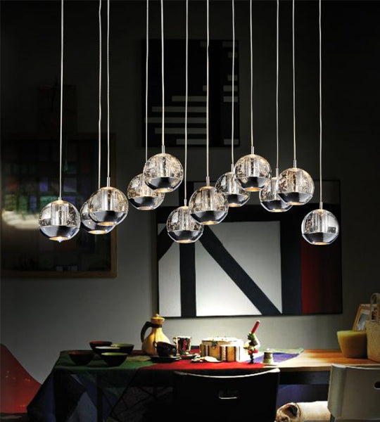 12 LIGHT MULTI LIGHT PENDANT WITH CHROME FINISH - Dream art Gallery