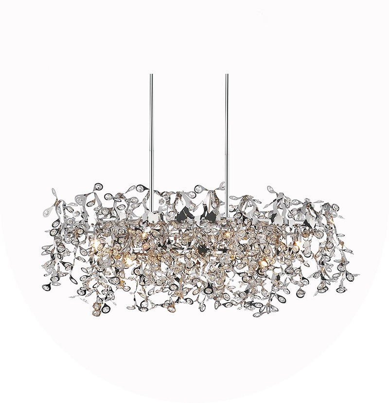 7 LIGHT DOWN CHANDELIER WITH CHROME FINISH - Dream art Gallery