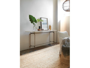 Hooker Furniture Living Room Skinny Metal Console - Dreamart Gallery