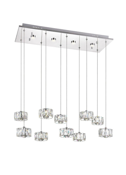 LED MULTI LIGHT PENDANT WITH CHROME FINISH - Dream art Gallery