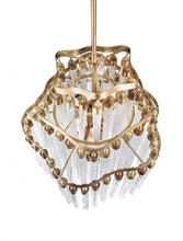 Load image into Gallery viewer, 10 LIGHT DOWN CHANDELIER WITH GOLD FINISH - Dream art Gallery