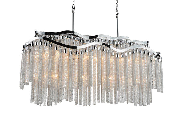 12 LIGHT DOWN CHANDELIER WITH CHROME FINISH - Dream art Gallery