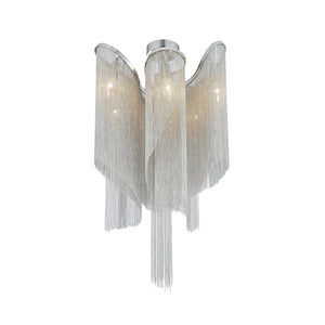 8 LIGHT FLUSH MOUNT WITH CHROME FINISH - Dream art Gallery