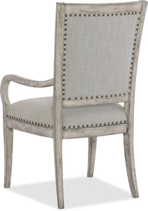 Hooker Furniture Dining Room Boheme Vitton Upholstered Arm Chair - 2 per carton/price ea - Dreamart Gallery